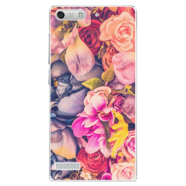 Plastové pouzdro iSaprio - Beauty Flowers - Huawei Ascend G6