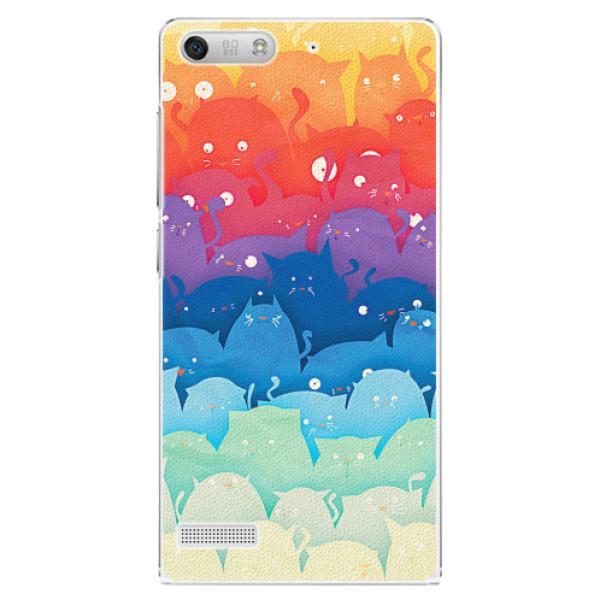 Plastové pouzdro iSaprio - Cats World - Huawei Ascend G6