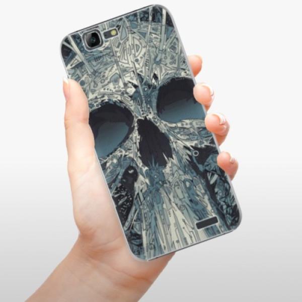 Plastové pouzdro iSaprio - Abstract Skull - Huawei Ascend G7
