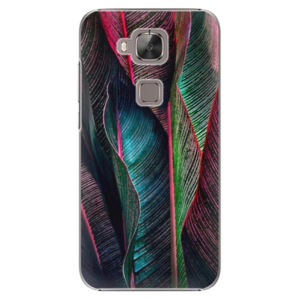 Plastové pouzdro iSaprio - Black Leaves - Huawei Ascend G8