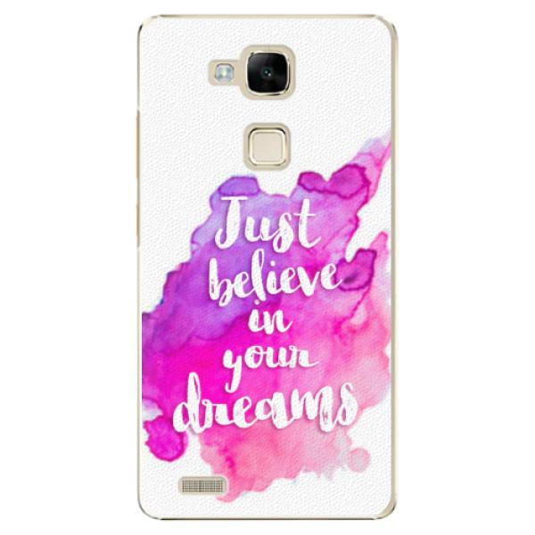 Plastové pouzdro iSaprio - Believe - Huawei Mate7