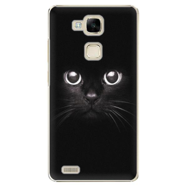 Plastové pouzdro iSaprio - Black Cat - Huawei Mate7