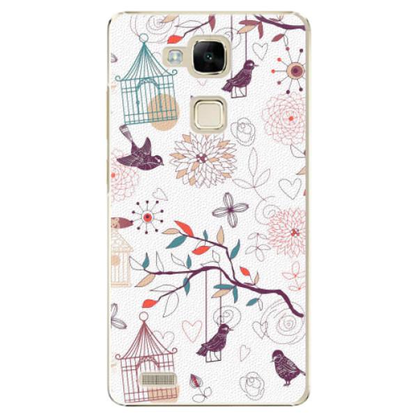 Plastové pouzdro iSaprio - Birds - Huawei Mate7