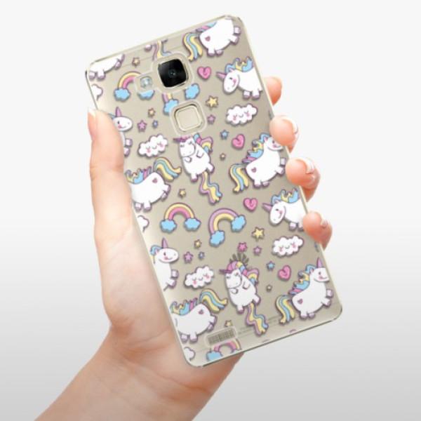 Plastové pouzdro iSaprio - Unicorn pattern 02 - Huawei Mate7
