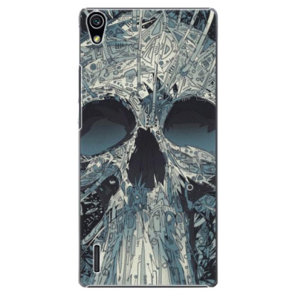 Plastové pouzdro iSaprio - Abstract Skull - Huawei Ascend P7