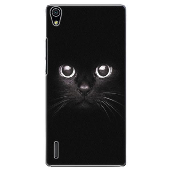 Plastové pouzdro iSaprio - Black Cat - Huawei Ascend P7