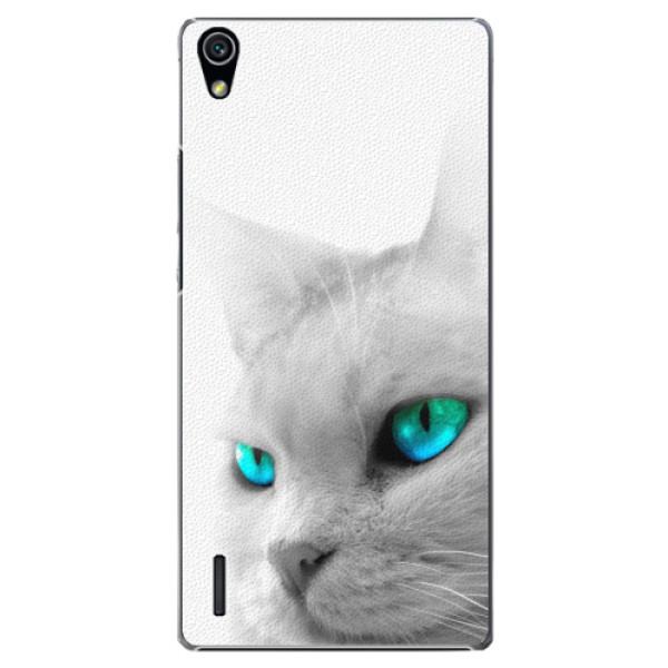 Plastové pouzdro iSaprio - Cats Eyes - Huawei Ascend P7