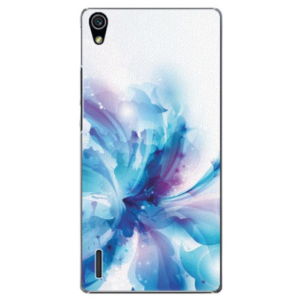 Plastové pouzdro iSaprio - Abstract Flower - Huawei Ascend P7