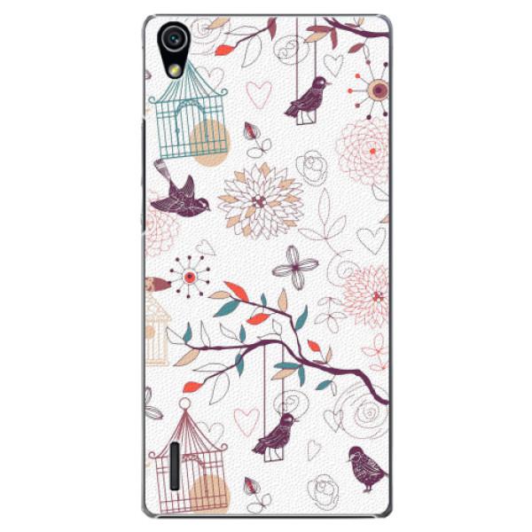 Plastové pouzdro iSaprio - Birds - Huawei Ascend P7