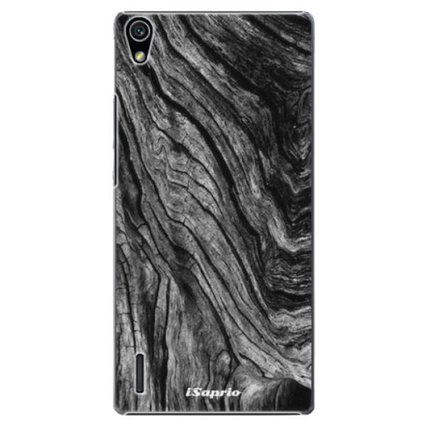 Plastové pouzdro iSaprio - Burned Wood - Huawei Ascend P7