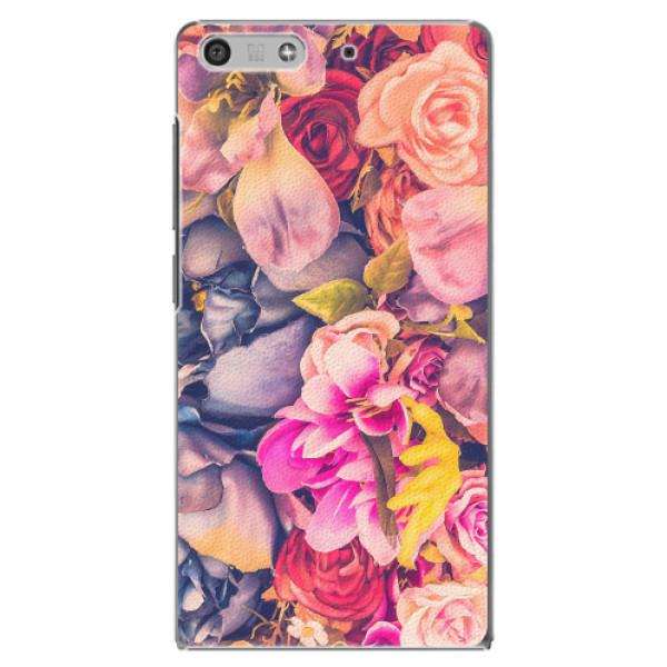 Plastové pouzdro iSaprio - Beauty Flowers - Huawei Ascend P7 Mini