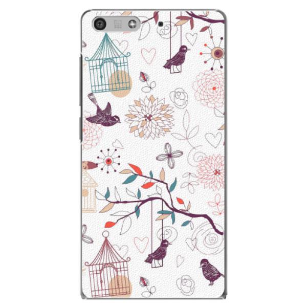 Plastové pouzdro iSaprio - Birds - Huawei Ascend P7 Mini