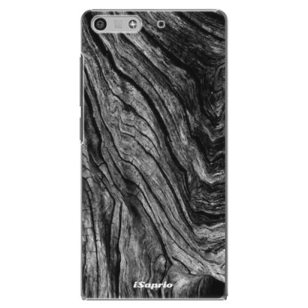 Plastové pouzdro iSaprio - Burned Wood - Huawei Ascend P7 Mini