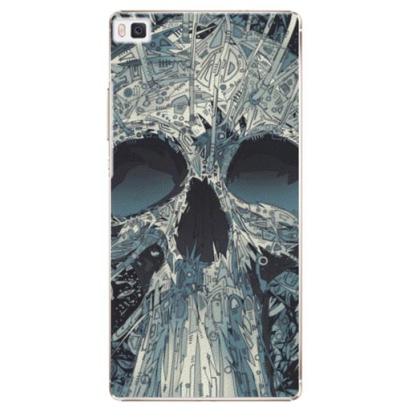 Plastové pouzdro iSaprio - Abstract Skull - Huawei Ascend P8