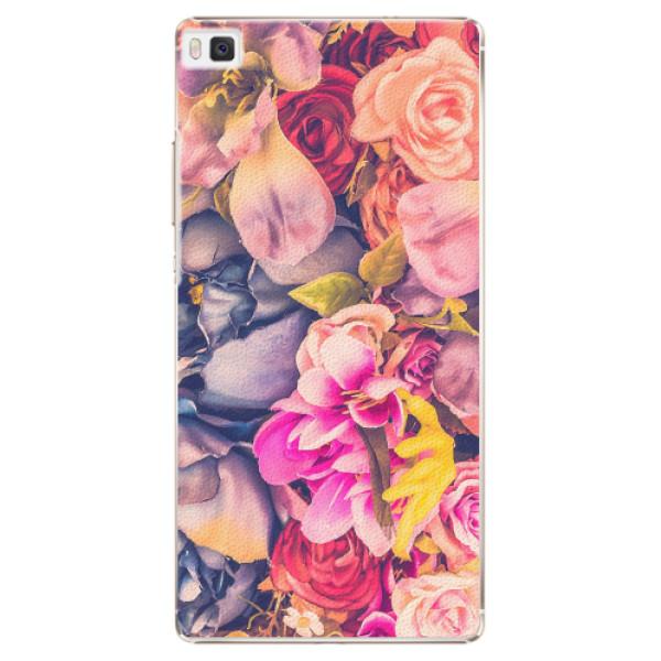 Plastové pouzdro iSaprio - Beauty Flowers - Huawei Ascend P8