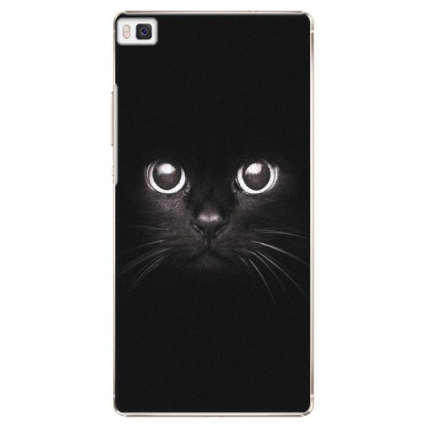 Plastové pouzdro iSaprio - Black Cat - Huawei Ascend P8