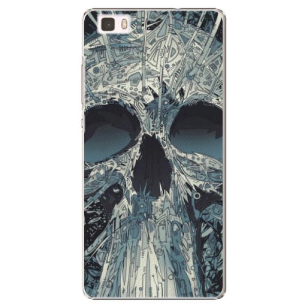 Plastové pouzdro iSaprio - Abstract Skull - Huawei Ascend P8 Lite