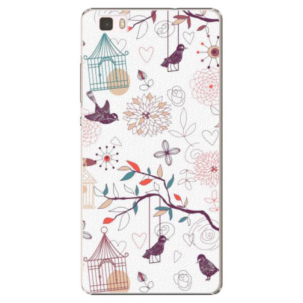 Plastové pouzdro iSaprio - Birds - Huawei Ascend P8 Lite
