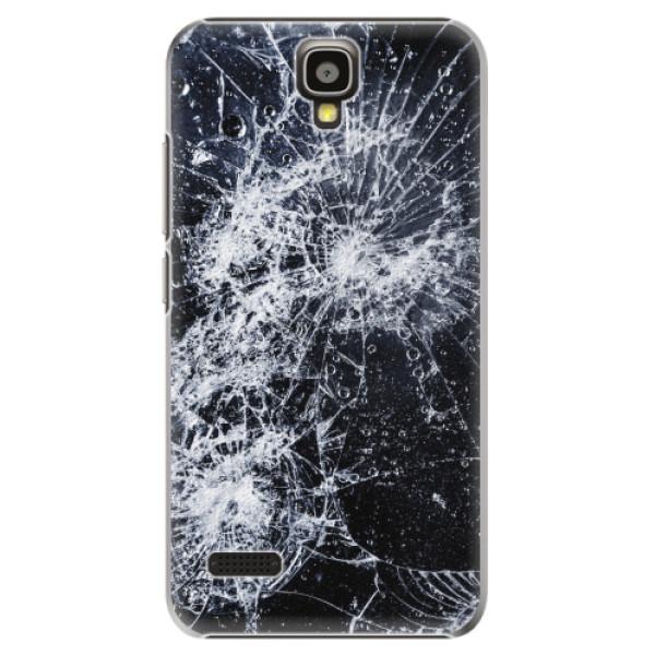 Plastové pouzdro iSaprio - Cracked - Huawei Ascend Y5
