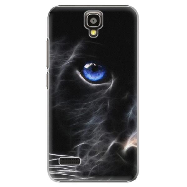 Plastové pouzdro iSaprio - Black Puma - Huawei Ascend Y5
