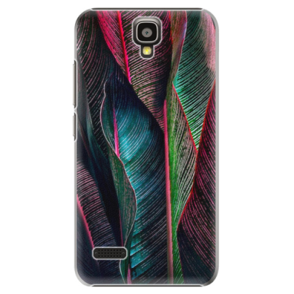 Plastové pouzdro iSaprio - Black Leaves - Huawei Ascend Y5