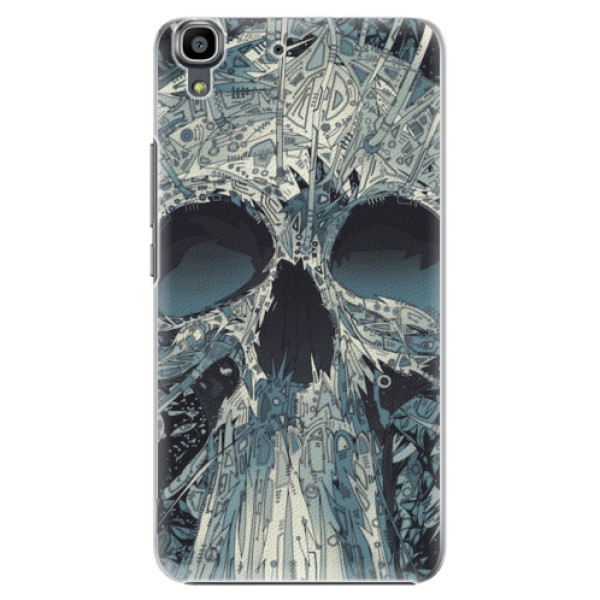 Plastové pouzdro iSaprio - Abstract Skull - Huawei Ascend Y6