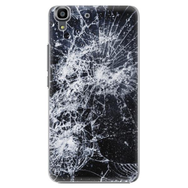 Plastové pouzdro iSaprio - Cracked - Huawei Ascend Y6