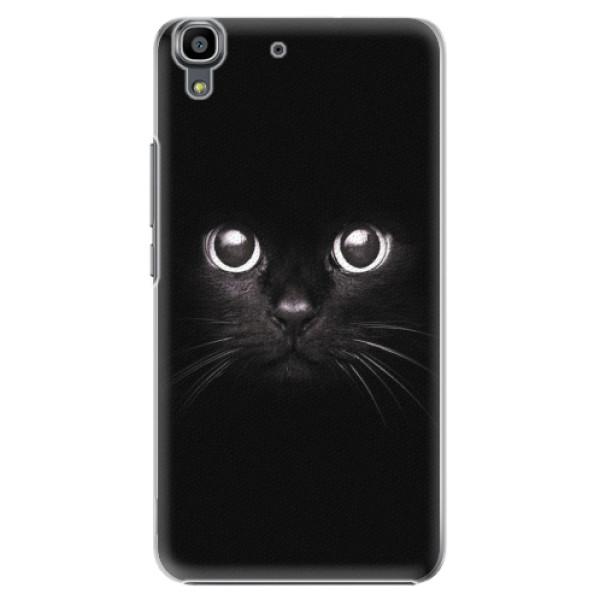 Plastové pouzdro iSaprio - Black Cat - Huawei Ascend Y6
