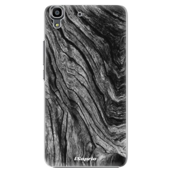 Plastové pouzdro iSaprio - Burned Wood - Huawei Ascend Y6