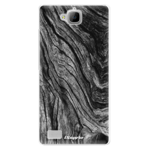 Plastové pouzdro iSaprio - Burned Wood - Huawei Honor 3C