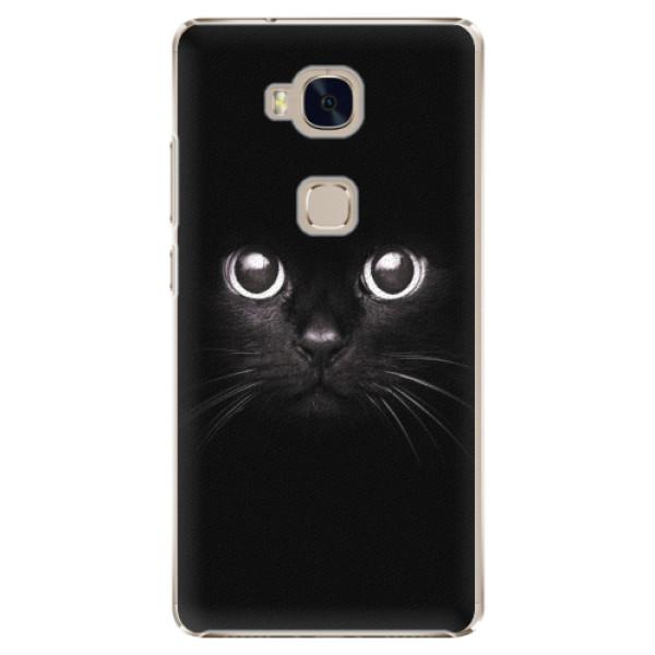 Plastové pouzdro iSaprio - Black Cat - Huawei Honor 5X