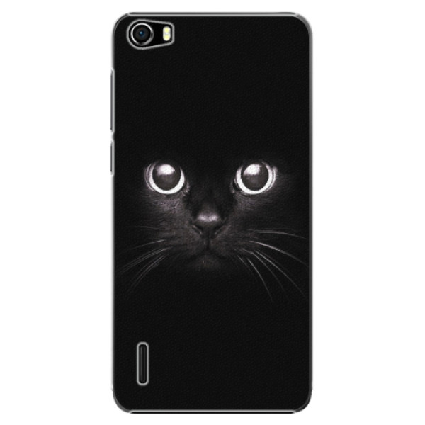 Plastové pouzdro iSaprio - Black Cat - Huawei Honor 6