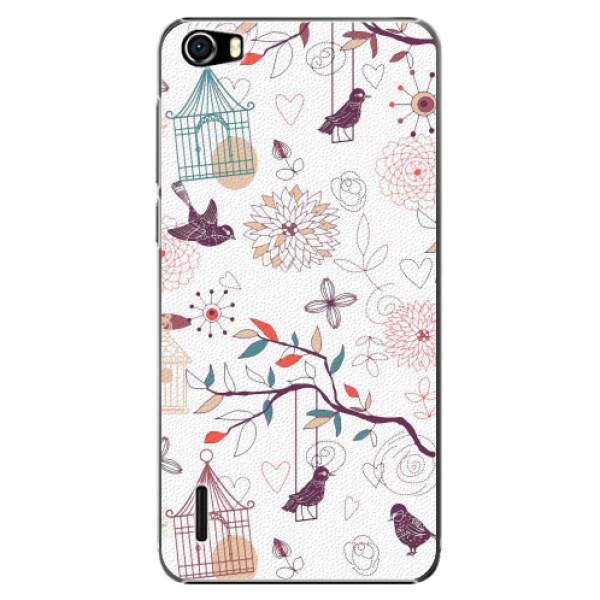 Plastové pouzdro iSaprio - Birds - Huawei Honor 6