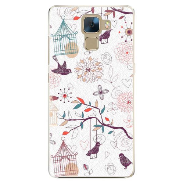 Plastové pouzdro iSaprio - Birds - Huawei Honor 7