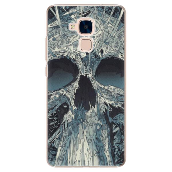 Plastové pouzdro iSaprio - Abstract Skull - Huawei Honor 7 Lite