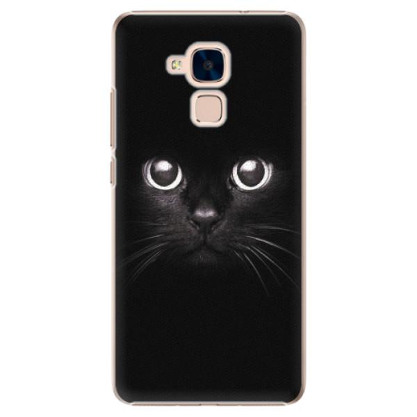 Plastové pouzdro iSaprio - Black Cat - Huawei Honor 7 Lite