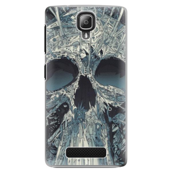 Plastové pouzdro iSaprio - Abstract Skull - Lenovo A1000