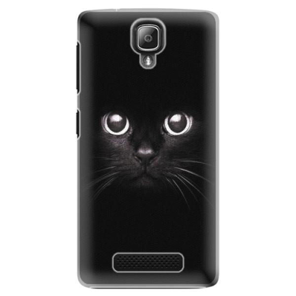 Plastové pouzdro iSaprio - Black Cat - Lenovo A1000