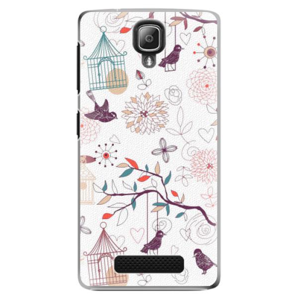 Plastové pouzdro iSaprio - Birds - Lenovo A1000