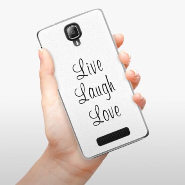 Plastové pouzdro iSaprio - Live Laugh Love - Lenovo A1000