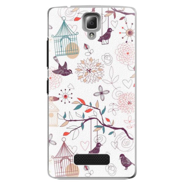 Plastové pouzdro iSaprio - Birds - Lenovo A2010