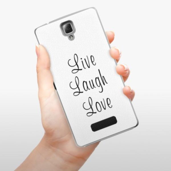 Plastové pouzdro iSaprio - Live Laugh Love - Lenovo A2010
