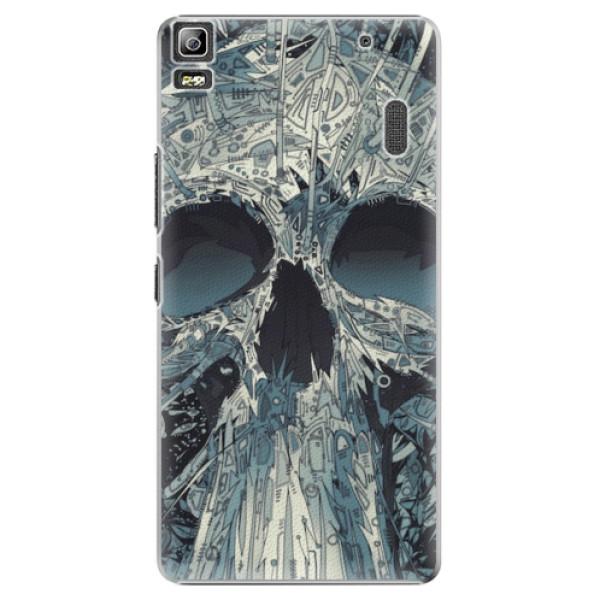 Plastové pouzdro iSaprio - Abstract Skull - Lenovo A7000