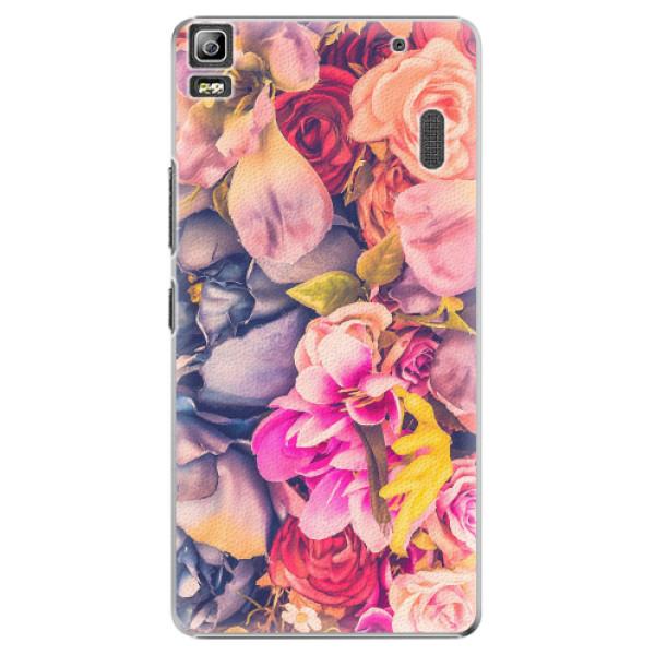 Plastové pouzdro iSaprio - Beauty Flowers - Lenovo A7000