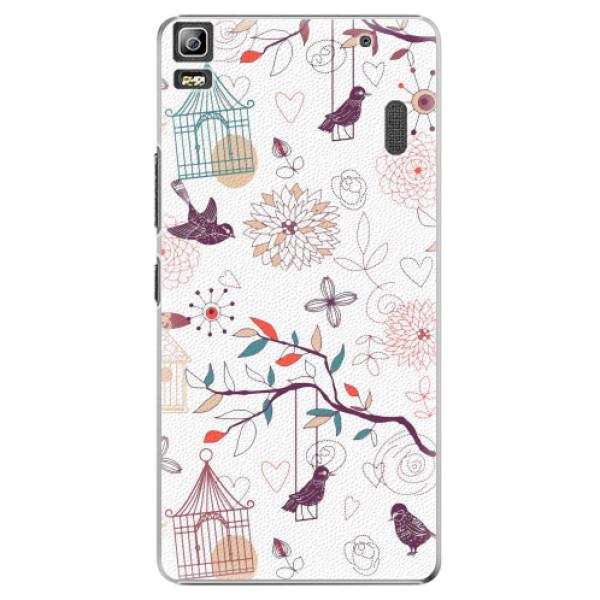 Plastové pouzdro iSaprio - Birds - Lenovo A7000