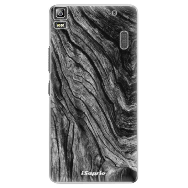 Plastové pouzdro iSaprio - Burned Wood - Lenovo A7000