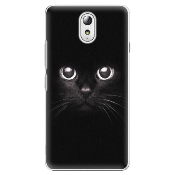 Plastové pouzdro iSaprio - Black Cat - Lenovo P1m