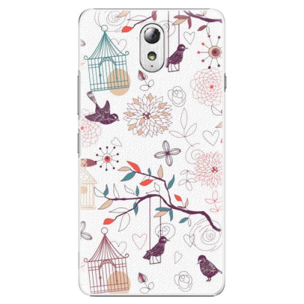 Plastové pouzdro iSaprio - Birds - Lenovo P1m