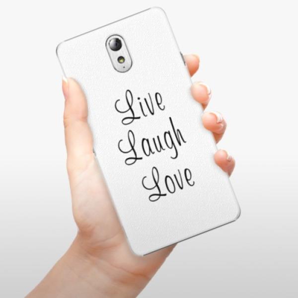 Plastové pouzdro iSaprio - Live Laugh Love - Lenovo P1m