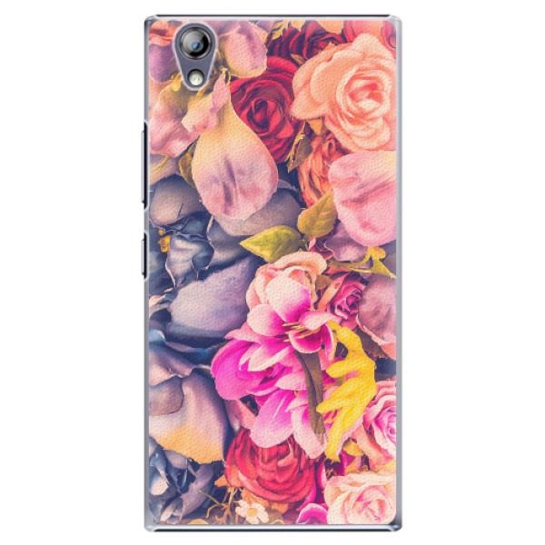 Plastové pouzdro iSaprio - Beauty Flowers - Lenovo P70